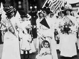 Women rallying for equal rights