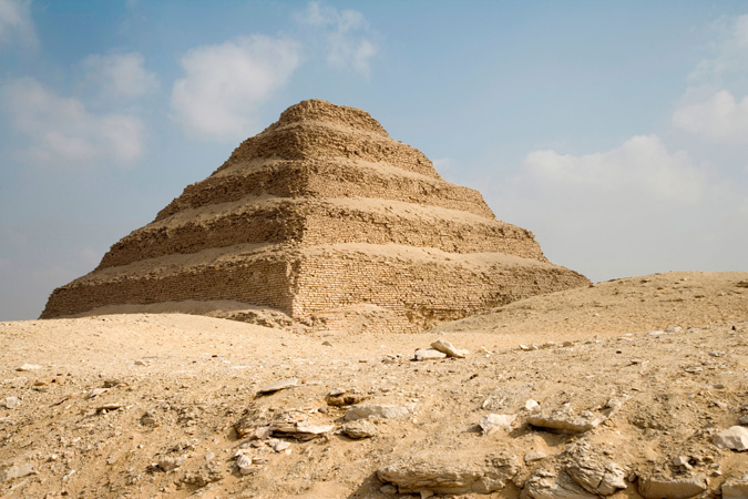 An Egyptian step pyramid near Cairo.