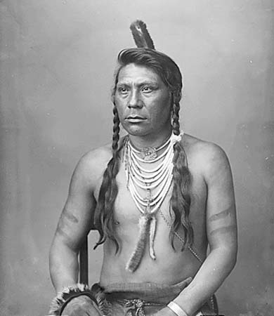 A portrait of a Flathead man.