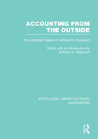 Accounting from the Outside: The Collected Papers of Anthony G. Hopwood