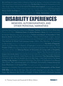Disability Experiences: Memoirs, Autobiographies, and Other Personal Narratives cover
