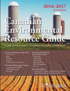 Canadian Environmental Resource Guide 2016-2017, ed. 21: Guide des ressources environnementales canadiennes