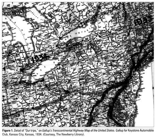 Academic OneFile Document American Promotional Road Mapping In - 1934 us highways map midwest