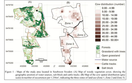 Academic OneFile Document Assessing Land Use By Cattle In - Sweden vegetation map