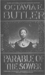 The cover for Butler's 1993 novel Parable of the Sower.