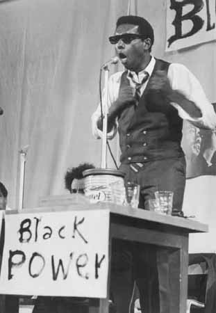 Stokely Carmichael, London, 1967. Carmichael was at the forefront of the Black Power movement of the 1960s and was one of the most influential leaders of the Student Nonviolent Coordinating Committee.