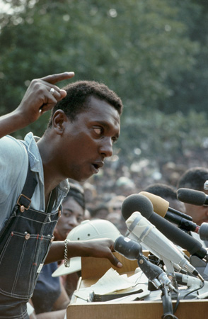 Stokely Carmichael, Student Nonviolent Coordinating Committee Leader, Rally on the Steps of the Mississippi State Capitol, June 1966.