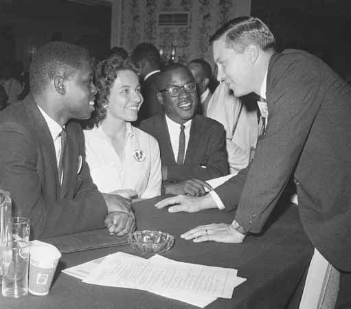 Diane J. Nash, Attending Republican Party Meeting, Chicago, July 20, 1960. Questions about civil rights are discussed by members of the partys platform committee in advance of the 1960 Republican convention.