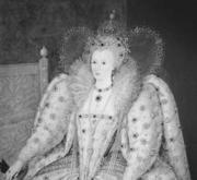 Portrait of Queen Elizabeth I of England.