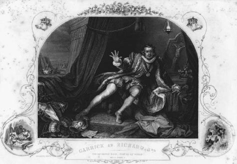 Print David Garrick as Richard III (1746) by William Hogarth. MICHAEL NICHOLSON/CORBIS.