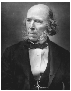 Herbert Spencer. A biologist, philosopher, and rival of Charles Darwin, Spencer developed a doctrine of social evolution. GETTY IMAGES