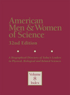 American Men & Women of Science, ed. 32: A Biographical Directory of Today?s Leaders in Physical, Biological and Related Sciences