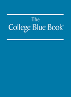 The College Blue Book, ed. 34