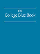 The College Blue Book, ed. 37