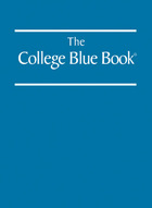 The College Blue Book, ed. 38