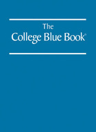 The College Blue Book, ed. 40