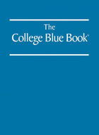 The College Blue Book, ed. 42