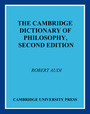Cambridge Dictionary of Philosophy, ed. 2 cover