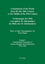 Constitutions of the World from the Late 18th Century to the Middle of the 19th Century--Europe, Vol. 2: Sources on the Rise of Modern Constitutionalism cover
