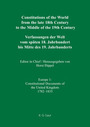 Constitutions of the World from the Late 18th Century to the Middle of the 19th Century--Europe, Vol. 1: Sources on the Rise of Modern Constitutionalism cover