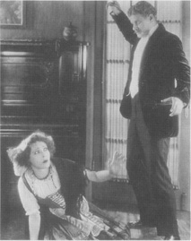 Alan Hale and Alla Nazimova in a scene from a 1922 production