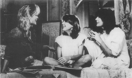 A scene from the 1986 film adaptation, starring Jessica Lange, Sissy Spacek, and Diane Keaton