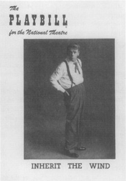 A playbill from the National Theatre performance.