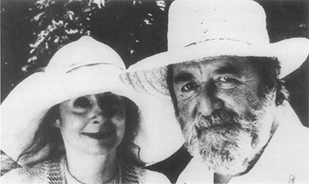 Robert Bolt with his wife, Sarah Miles, in 1990