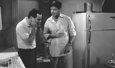 Jack Lemmon stars as the neat Felix Ungar and  Walter Matthau stars as the slovenly Oscar Madison in the 1968 version of The Odd Couple
