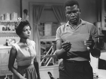 Sidney Poitier and Ruby Dee star in the 1961 version of A Raisin In The Sun
