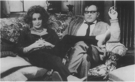 Real-life husband and wife Elizabeth Taylor and Richard Burton as Albees fictional couple Martha and George in the film version