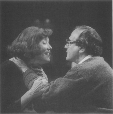 Martha (Diana Rigg) and George (David Suchet) share a rare tender moment in a 1996 production staged at the Almeida Theatre in London
