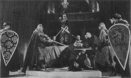A production of Murder in the Cathedral depicting the death of Thomas Becket (John Westbrook)