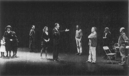 A scene from an American Repertory Theatre production of Pirandellos play directed by noted theater critic Robert Brustein