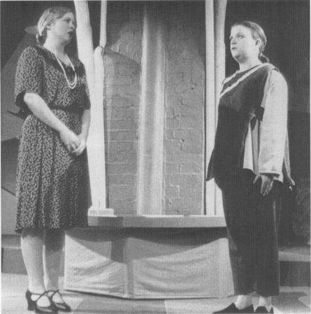 A scene from a production of Capeks play