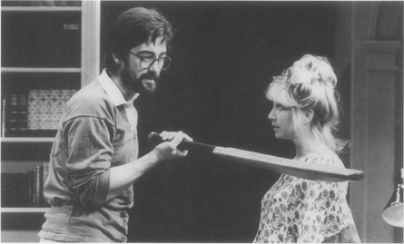 Henry (Roger Rees) and Annie (Felicity Kendal) have an uncomfortable confrontation in a 1982 production of Stoppards play at the Strand Theatre