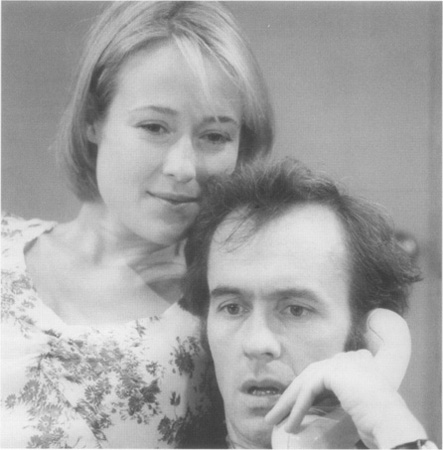 A scene from a Donmar Warehouse production of The Real Thing featuring Jennifer Ehle as Annie and Stephen Dillane as Henry