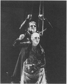 Jerome Willis and Linda Marlowe in Strindbergs Ghost Sonata.