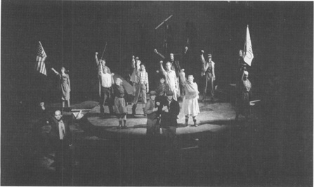 A scene from the second play (Fire in the Hole) of part II ofSchenkkans The Kentucky Cycle, performed at Bradley Universitys Meyer Jacobs Theatre in 1997