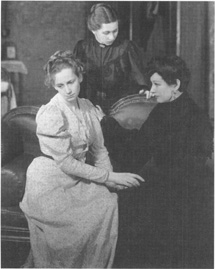 A scene from John Gielguds production of The Three Sisters, performed at Londons Queens Theatre.
