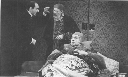 A scene from the National Theatres 1977 production of Volpone.
