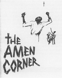 Playbill cover from the 1965 production of Baldwins The Amen Corner at the Ethel Barrymore Theatre