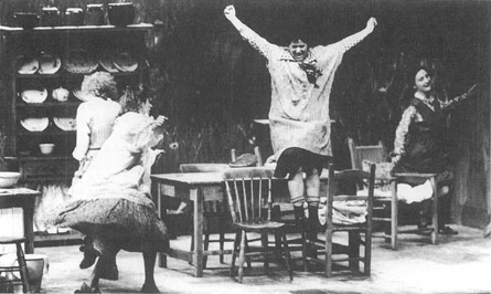 A scene from the 1991 production of Dancing at Lughnasa at Dublins Abbey Theater