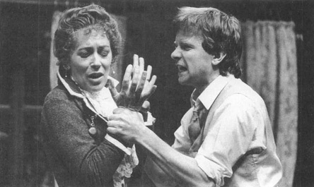 Lynn Fairleigh and Simon Chandler star as mother and son, Helen and Oswald Alving, in the Shaw Theatres 1984 production of Ghosts.