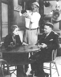 Greta Garbo and Clarence Brown in a scene from the 1930 film adaptation of Anna Christie.