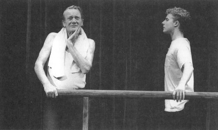 A scene from the 1989 production of A Life in the Theatre at Londons Theatre Royal.