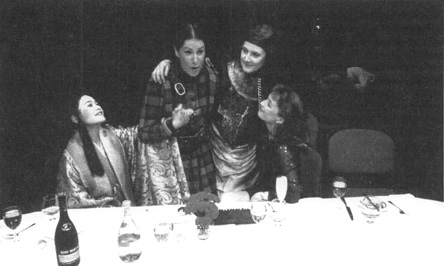 A scene from the 1991 production of Top Girls at Londons Royal Court Theatre.