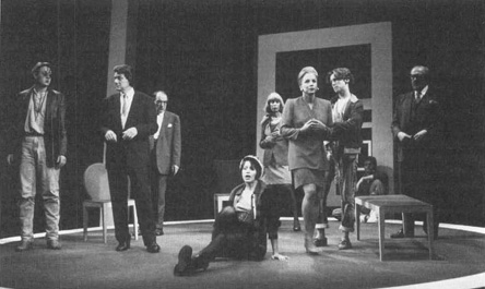 A scene from the 1992 theatrical production of Six Degrees of Separation
