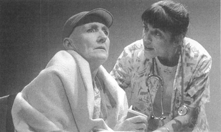 Kathleen Chalfant and Paula Pizzi in a scene from Margaret Edson s play Wit