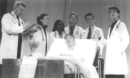 A scene from the 2000 theatrical production of Wit in London, England